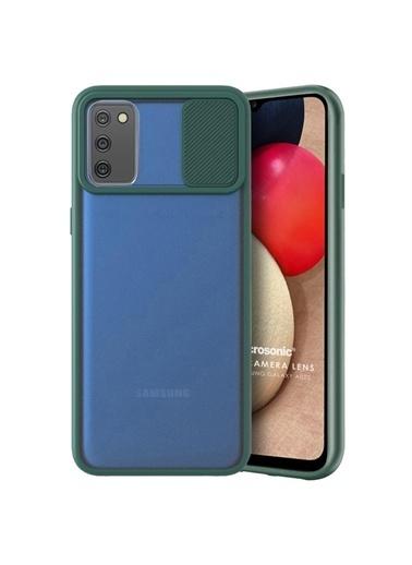 Microsonic Samsung Galaxy A02S Kılıf Slide Camera Lens Protection Kırmızı Yeşil